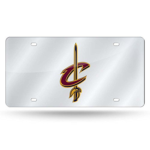 Rico NBA Cleveland Cavaliers Laser Tag (Silber) Sport Fan Automotive Zubehör, Multicolor, One Size - Cleveland Cavaliers-decal