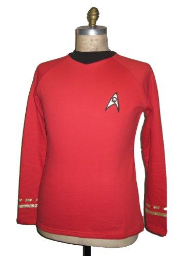erie - Raumschiff Enterprise - Uniform Oberteil - Rot - Super Deluxe Größe XXXL (Star Trek Original Serie Kostüme)
