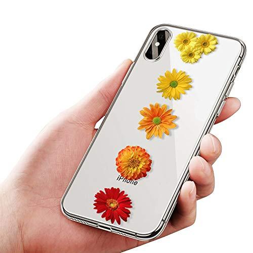Tybaker Hülle für iPhone Xr Xs Max Hülle Transparent mit Blumen Dünn Slim Handyhülle Weiche Silikon Protection Bumper Case Cover Kratzfest Klar Schutzhülle für iPhone Xs (05 Daisy, iPhone Xr)
