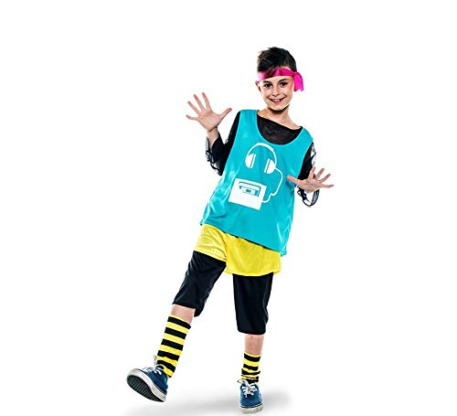Disfraz de Aerobic ochentero verde para niño