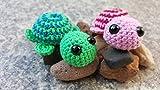 gehäkelte Schildkröten suchen neues Zuhause Schildkröte 3 Farben zur Auswahl pink grün blau