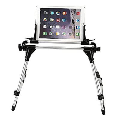 "King of Flash Universal Foldable Desk Floor Stand Bed Tablet Mobile Phone Holder Mount Upto 9.7"" for iPad 2/3/4 iPad Air 1/2, Samsung Tablets, Sony, HTC, Samsung, LG, Nokia - inexpensive UK light shop."