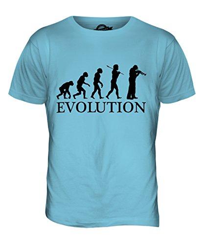 CandyMix Kornett Instrument Evolution Des Menschen Herren T Shirt Himmelblau
