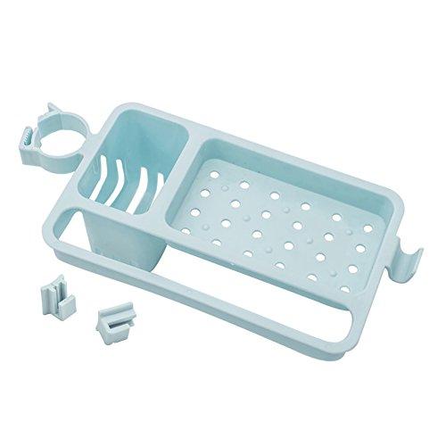 FUNIE - Esponja de drenaje ajustable para jabón, soporte para contenedor, organizador de cocina, escurridor de platos