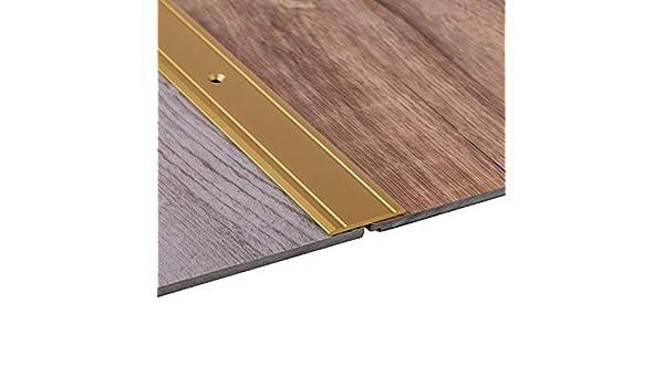 Abdeckleiste 100 cm 1 St/ück Gedotec Aluminium /Übergangsprofil gelocht Abschlussprofil Alu Fu/ß-Boden-Leiste h/öhen-ausgleich /Übergangsschiene zum Schrauben Ausgleichsprofil Messing eloxiert