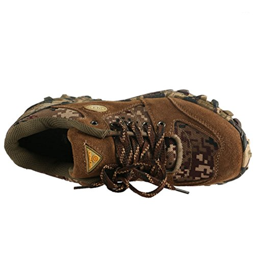 [Chaussures de Randonnée de voyage] Basses Homme Chaussures Sécurités En Cuir Imperméable Marche Respirant Quotidien Sport Confort-iisport Brun