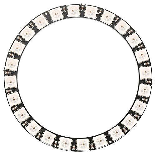 Akozon LED Ring Lampe 1pc 24-Bit WS2812 5050 RGB LED Ringleuchte mit integrierten Treibern