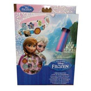 Disney - Disney WD92075D Scatola di 3 braccialetti Frozen con 18 accessori