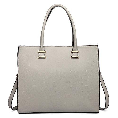 Miss Lulu , Damen Tote-Tasche 1509 Grey