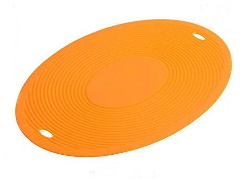 Isoliermatten Silikon Tischset Tischmatten, ORANGE (Gebacken Pas)