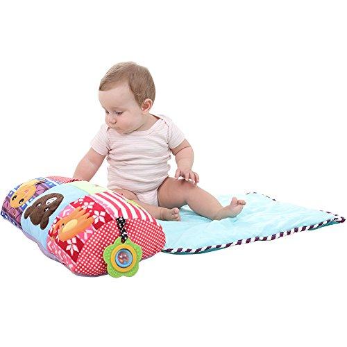 Pro Baby Spielmatte mit Beißring & Toys Activity Gym tragbar Krabbeldecke kriechen Kissen klimatisierten Teppich Bett Volant Dekoration für Kinder Kinder Kleinkind Schlafzimmer (Teppich-pad Ziel)