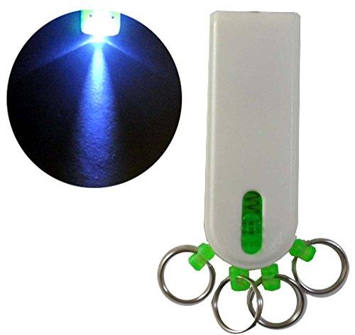 toolusa LED porte-clés en plastique avec 4 anneaux & fonction de libération rapide pour anneaux : tk-14911