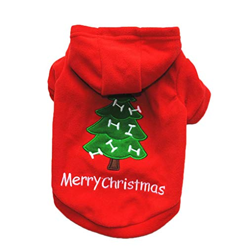 Provide The BestDog Pet Christmas Holiday Fleece Hoodies Dog Cat Pet Velvet Jacket Clothes Outfit Christmas Costume Top Coat Red Velvet Holiday-outfit