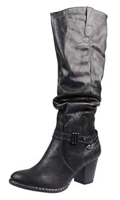 Marco Tozzi  2-2-25582-21,  Damen Stiefel , Schwarz - schwarz - Größe: 42