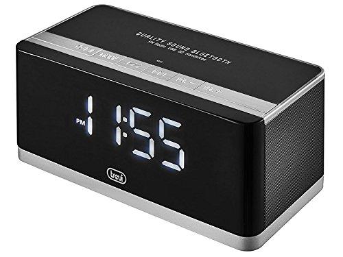 Trevi HY 870BT Radiowecker MP3, Schwarz, 16x 7.6x 8cm