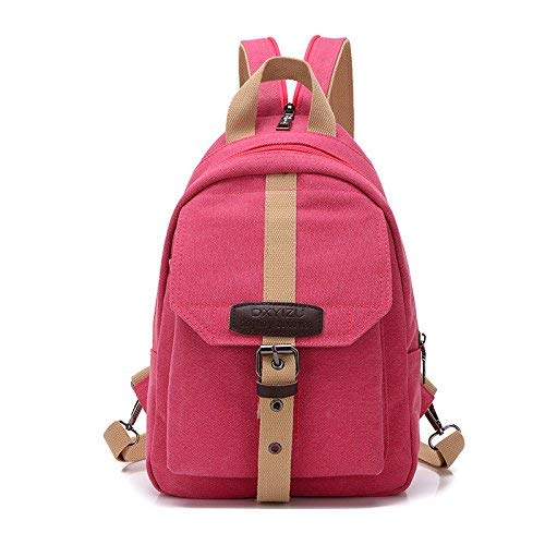 Betrothales Laptop Rucksack Studentenbewegung Für Freizeit Reisetasche Taschen Canvas Jungen Business Laptop Bag Daypacks Umhängetaschen Rosa (Color : Pink, Size : One Size)