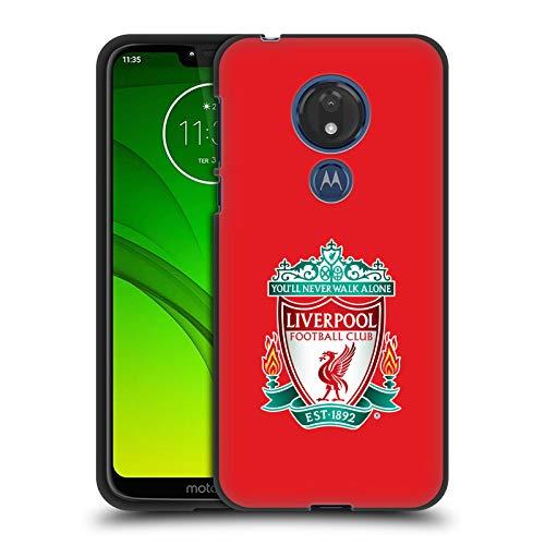 Head Case Designs Offizielle Liverpool Football Club Rot 1 Crest 1 Soft Gel Hülle Schwarz für Motorola Moto G7 Power - Power Gel Case