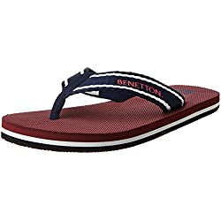 United Colors of Benetton Men's Navy Flip-Flops and House Slippers - 6 UK/India (40 EU)
