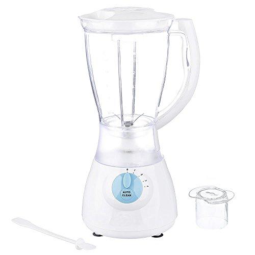 Melko Mixer, Smoothie Maker, 300 Watt, 1.5 L, weiß, mit Auto Clean Funktion und Saugnäpfen, für Obst, Gemüse, Shakes uvm.