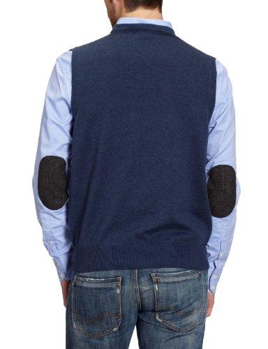 Gant - Pull sans manche - Uni - Sans manche - Homme Bleu-368-TR-A2
