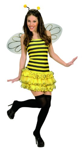 üm Biene, Kleid, Flügel und Kopfschmuck, Größe M ()