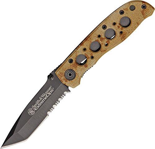 Smith & Wesson Taschenmesser: Extrem Ops DESSERT Camou Tanto Einsatzmesser (Fan 16 Blades)
