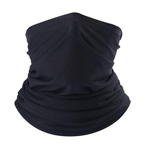 Arcweg Multifunktionstuch Herren Schnelltrocknend Atmungsaktiv Weich Gesichtsmaske Damen Super Elastisch Sonnenschutz Verschleißfest Schlauchschal Halstuch Maske für Motorrad Laufen Wandern Schwarz