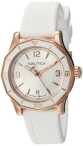 Nautica Womens Analogue Quartz Watch with Silicone Strap 6.56086E+11