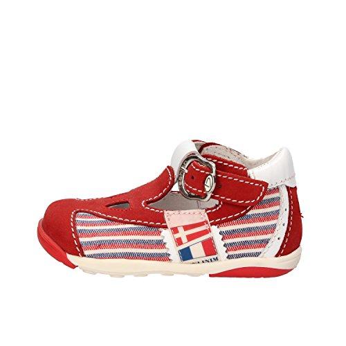 BALDUCCI 18 EU sandali bambino rosso pelle tessuto AF348