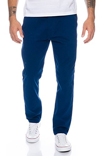 Rock Creek Herren Designer Chino Hose Regular Slim Chinohose RC-390 Blau W36 L34 (Hose Chino Blaue)