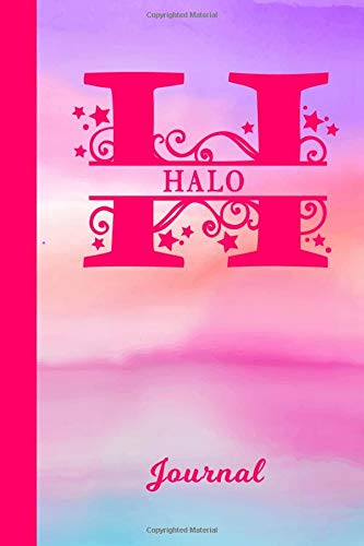 Halo Journal: Personalized Custom First Name Personal Writing Diary | Cute Pink & Purple Watercolor Effect Cover | Daily Journal for Journalists & ... Write about your Life Experiences & Interests