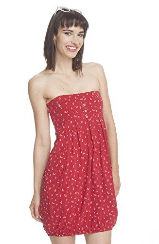Ragwear - Robe - Boule - Femme rouge piment