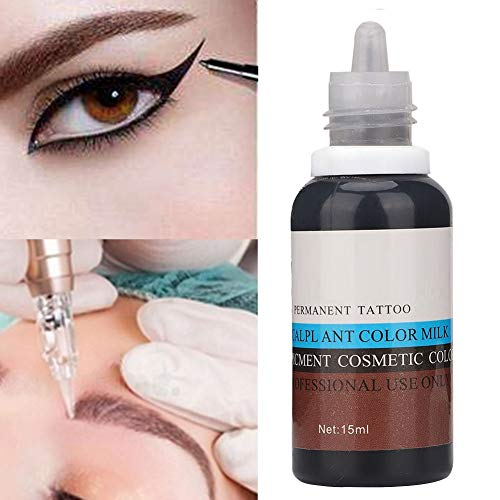 41g%2Blwf1JCL - Tinta del Tatuaje,Qkiss 15 ml Pigmento Profesional Eyebrin Lip Eyeliner Tattoo Plant Pigmento Pigmento permanente Tinta Maquillaje Tinta Maquillaje Herramienta(Marron oscuro) (Negro)