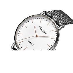 Neuer Trend  Armbanduhr Damen Uhren, Frauen Classic Analog Quarz Uhren Edelstahl mit Mesh Wrist Watch Ultradünne LEEDY