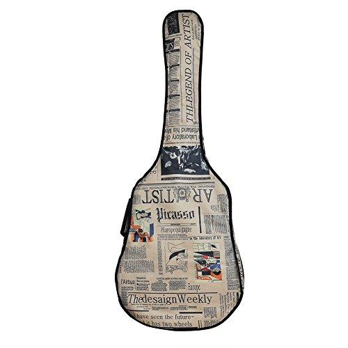 yiming-4142-inch-oxford-waterproof-old-newspaper-appearance-cartoon-guitar-bag-case