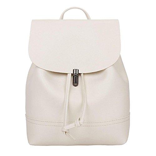 Hiroo borsa zaino da donna casual classic daypack vintage università stile zaino zainetti in pelle zainetti eleganti borsa a tracolla zaini per la scuola borse borse a spalla (beige)