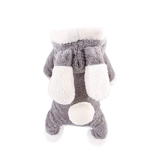 (DANCE YOU PRIMA Hundemantel Hundejacke Katzenkostüm Hundekostüm Hundeverkleidung Wintermantel in Häschen-Design für kleine und mittlere Hunde alle Katzen)