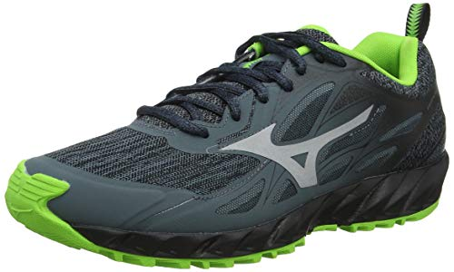 Mizuno Wave Ibuki, Zapatillas de Running para Asfalto para Hombre, Gris (Stormy Weather/Silver/Jasmine Green 03), 43 EU