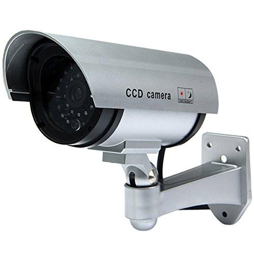 Galleria fotografica TELECAMERA FINTA DI SICUREZZA FAKE VIDEOSORVEGLIANZA PROFESSIONALE CCTV