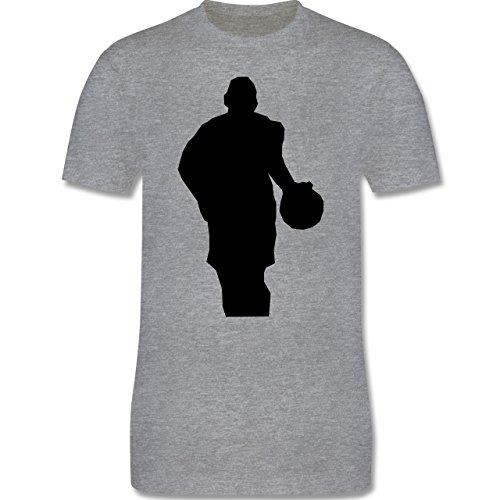 Basketball - Basketball - Herren Premium T-Shirt Grau Meliert