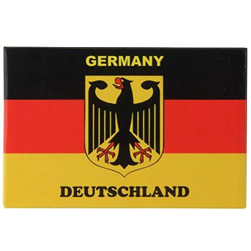 Pawlowski Souvenirs & Postkarten Kühlschrankmagnet 8 cm x 5,5 cm Germany Deutschland Flagge - Kühlschrank Magnet Deutschland