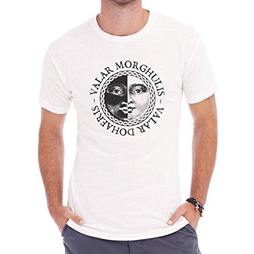 Vallar Morghulis Art Coing Flip Herren T-Shirt Weiß