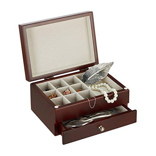 Relaxdays–Caja-Joyero-de-madera-pequea-con-espejo-bal-Anillo-hebilla-pendientes-HxBxT-10-x-185-x-13-cm-varios-colores