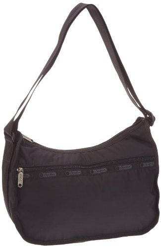le-sportsac-epaule-shoulder-bag-handbag-black-size-one-size