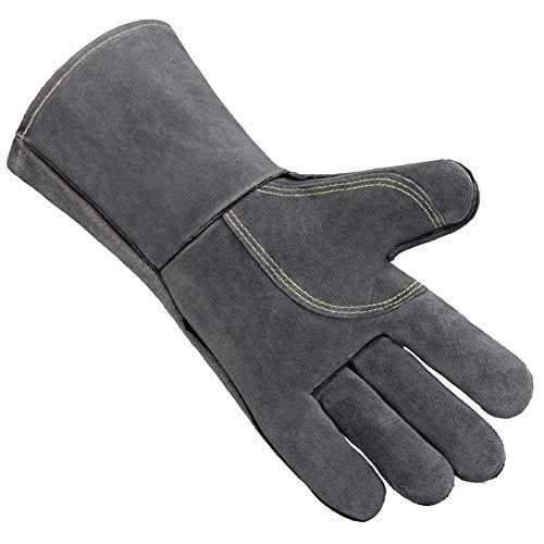 rainnao Grillhandschuhe im Freien Grill Mikrowellenherd feuerfeste Hochtemperatur-Beständige Handschuhe mit Flaschenöffner