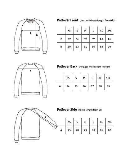 100% Kaschmir Damen Kapuzenpullover | Hoodie mit Reißverschluss (Schwarz, XL) - 6