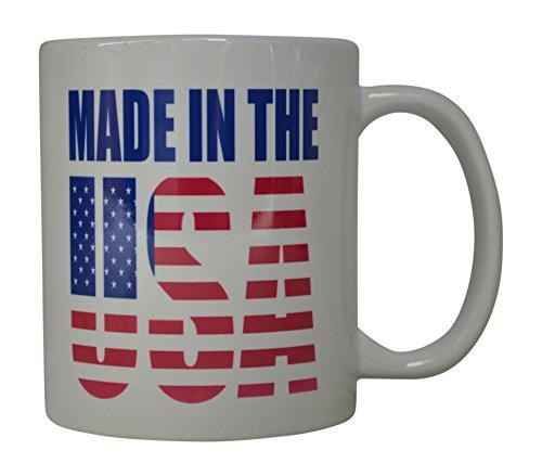 Best Kaffee Tasse hergestellt in den USA Flagge American Patriot Neuheit Tasse Tolles Geschenk Idee für Herren Dad Vater Ehemann Military Veteran Konservative (Made in USA) (American Made Mikrowelle)
