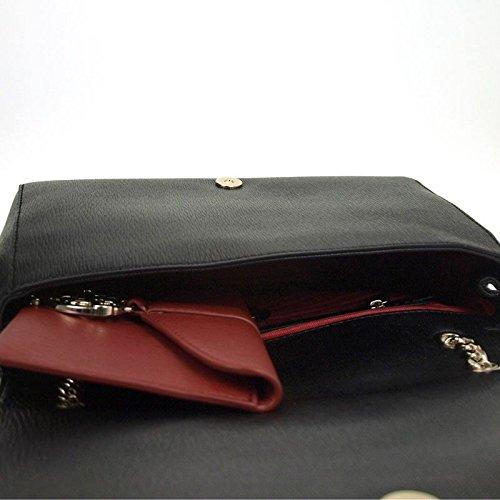 Moschino Love New Saffiano Mix borsa a spalla Nero/Rosso