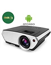 Dinshi Pro+ Android/WiFi Version 2200 Lumens Multimedia LED Projector with HDMI/Video/VGA Slot (Black)