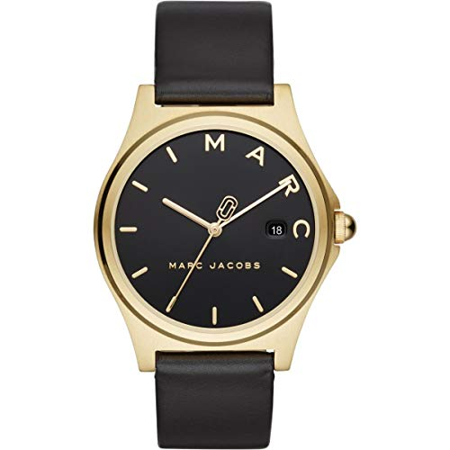 Marc Jacobs Damen-Armbanduhr Analog Quarz One Size, schwarz, schwarz